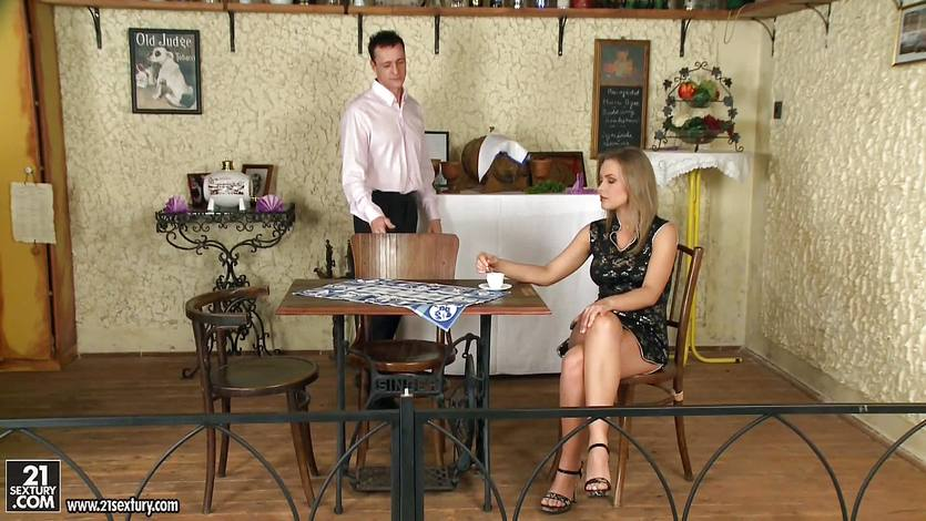 Hungarian blonde Colette W fucked on the table
