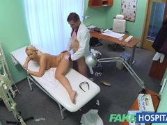 Racy blonde patient loves hard cock