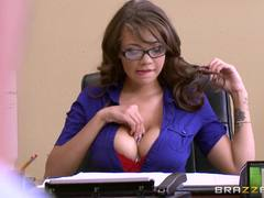 Cassidy Banks is fucked at work by a horny interviewee