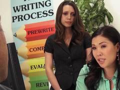 School fucking with sexy teachers Jade Nile and London Keyes