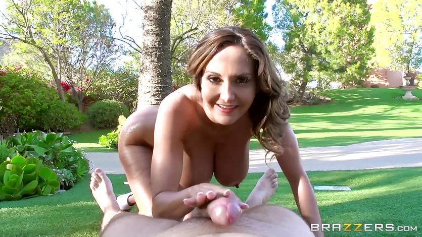Outdoor big dick anal with Ava Addams