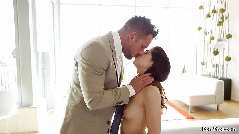 Suited dude sweetly fucked by Ava Taylor