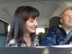 Sultry babe Bella Beretta gets her way with a hot stranger
