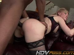 Nasty Nina Hartley takes on this huge dick