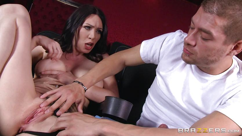 Rayveness gets nut juiced at the porn theatre