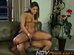 Tempting babe Abella Danger drools over this hard cock