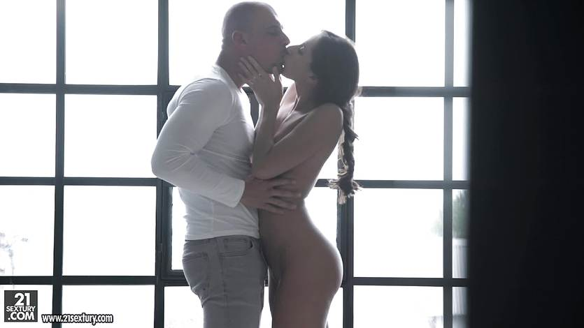 Aruna Aghora rides his hard cock in her tight minge