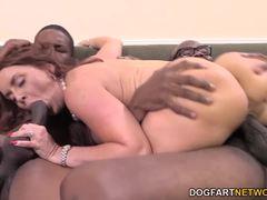 Janet Mason fucking two black dicks