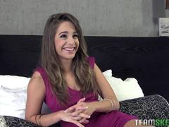 Rachel James has a great time on her audition