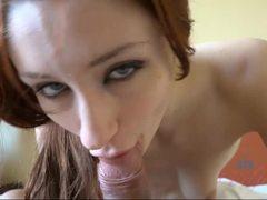 Violet Monroe teasing his cock