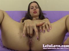Lelu Love finger fucks her moist pussy