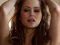 Masturbation all alone with stunner Emily Addison
