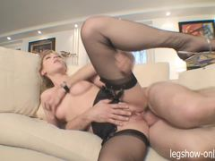 Hottie Lily Labeau swallows this hard cock