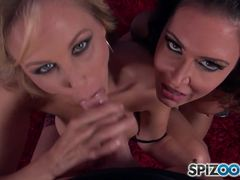 Jessica Jaymes and Julia Ann love to suck dick