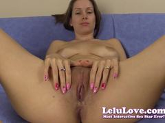 Sexy Lelu Love plays with her moist slot