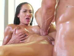 Oily Amia Miley ready to ride thick cock