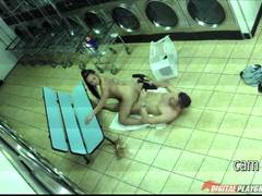 Spycam in the laundrette Morgan lee rammed in her sweet pussy by Mick Blue