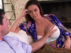 Alison Tyler uses her big hot tits to wank dick