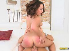 Cute latina Becca Lee riding deep her beautiful plump ass