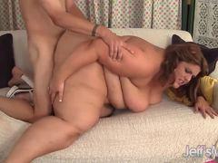 BBW Erin Green gets her pussy slammed