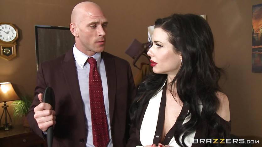 Veronica Avluv loves her work relationship with her boss