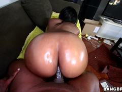 Nikki Ford rides a black dick in her moist minge