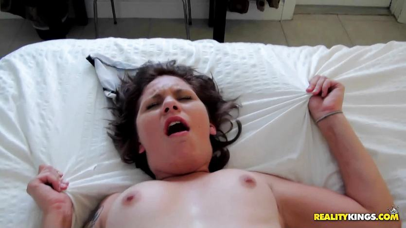 Picking up Holly Starr and ramming her tight pussy lips