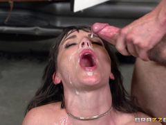 Dana DeArmond gets showered in cum