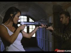 Grenades shotguns cumshots and monster cocks sexy action movie with Franceska Jaimes and Lexi Lowe
