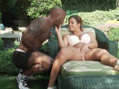 Big black cock loving Keisha Grey takes it in deep