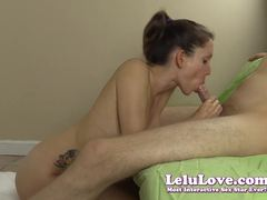 Sexy Lelu Love gobbles down this stiff shaft