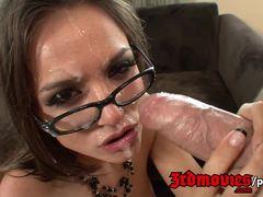 Hot brunette Tori Black loves hard cock