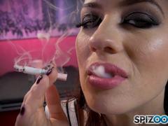 Solo mastrubation hot horny smoker