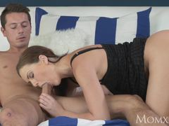 Naughty big tits milf takes a big shaft deep inside