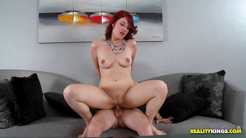 Horny babe Jessica Ryan fucked deep in the pussy pie during an interview