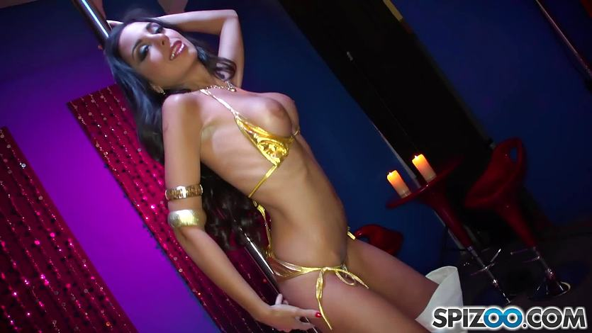 Sexy babe St Clair gives hot sexy stripper service