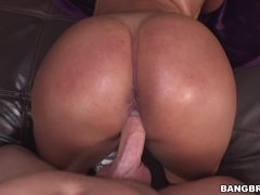 Curvy Latina Sofia Char stuffed in her cock socket