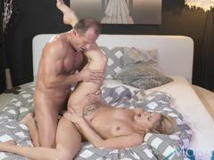 Randy nympho takes this hard cock