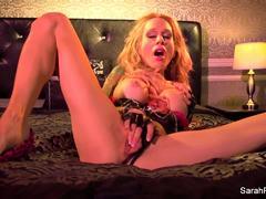 Gorgeous Sarah Jessie masturbating