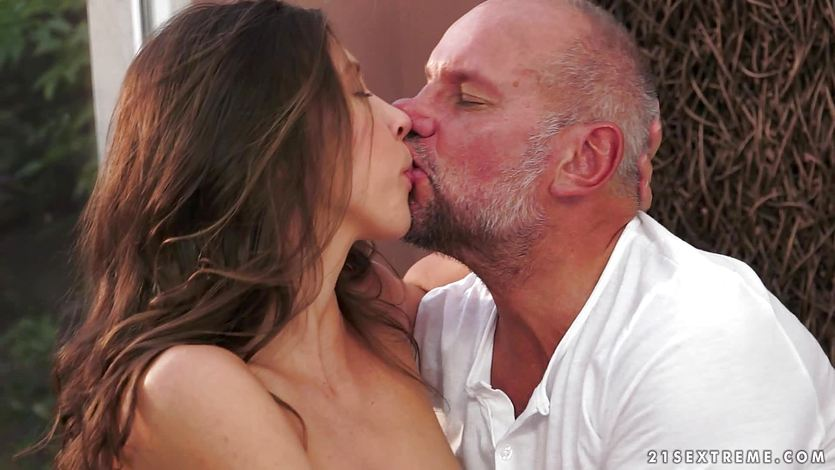 Ananta Shakti gets herself an old mans cock rammed inside her