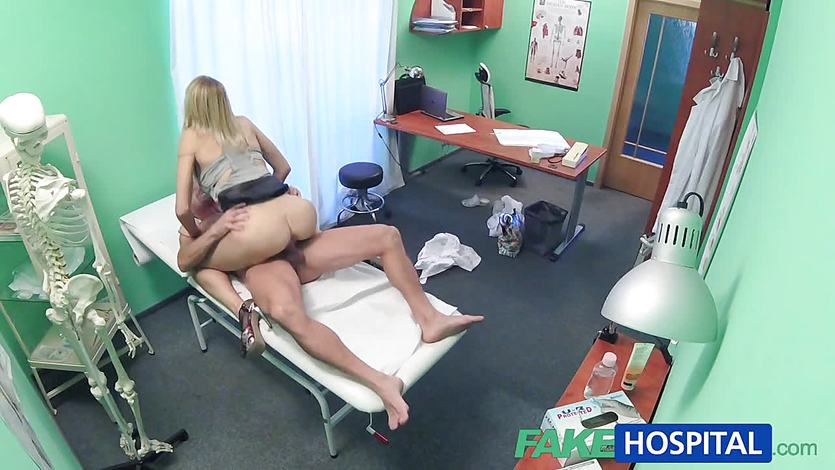 Horny doctor fucks sexy patient
