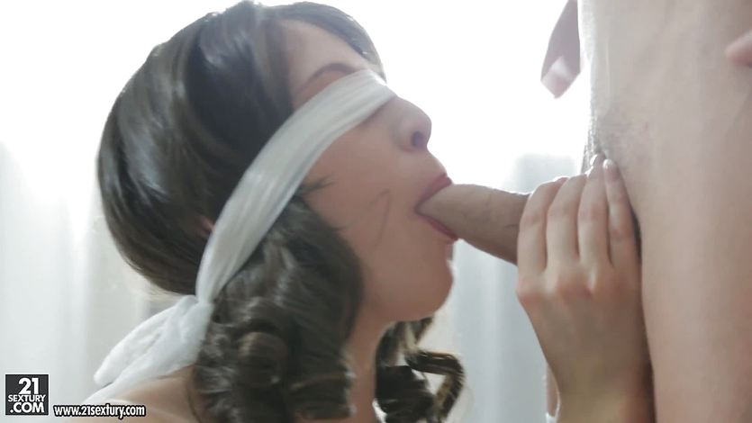 Smoking hot brunette fucks and sucks