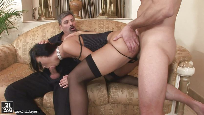 A cock in every hole for horny Susie Diamond