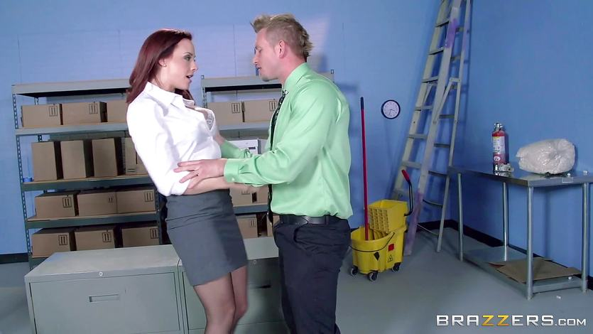 Secretary Chanel Preston gets her mans cock at work
