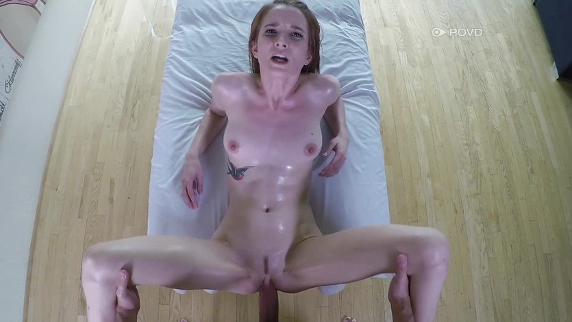 Drilling Jackie Marie deep in her sexy clit slit POV style