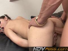 Sexy Sasha Grey gets her pussy drilled