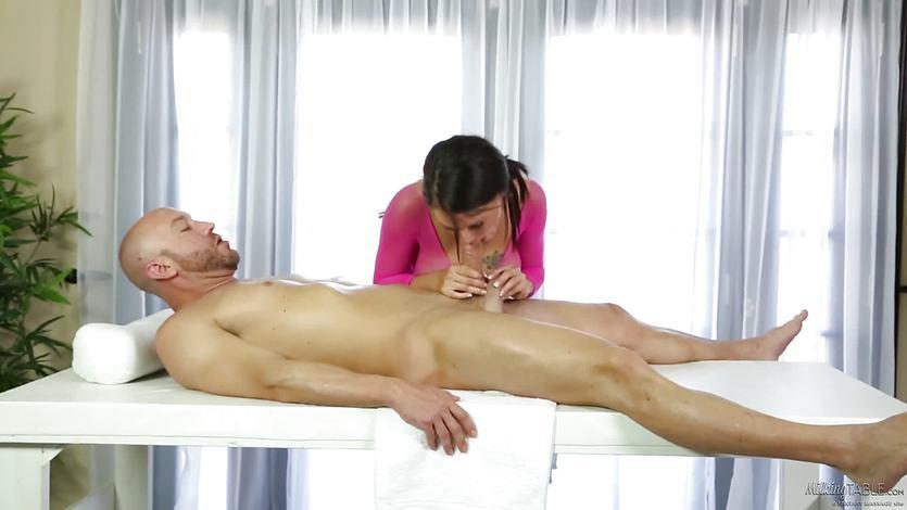 Fishnet and fucking massage from Peta Jensen