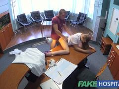FakeHospital hot sex with doctor and nurse at work