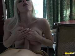 Blonde babe Lexi Jackson takes it deep in the pussy