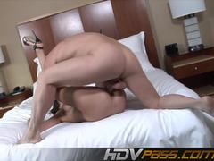 Luscious Amy Fisher takes this hard dick deep in her moist slot